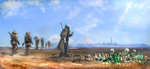 Fallout New Vegas fan art- NCR Patrol by BoxofLizards