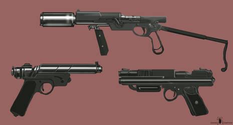 Scrap Retro Futurism Gun concepts