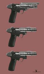 Scrap Retro Futurism gun concepts 2