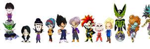 15 DBZ characters, uber kawaii by amaranthe333