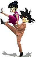Goku + Chichi do the Lindy Hop by amaranthe333