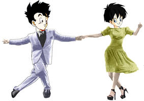 Gohan and Videl swing dancing by amaranthe333