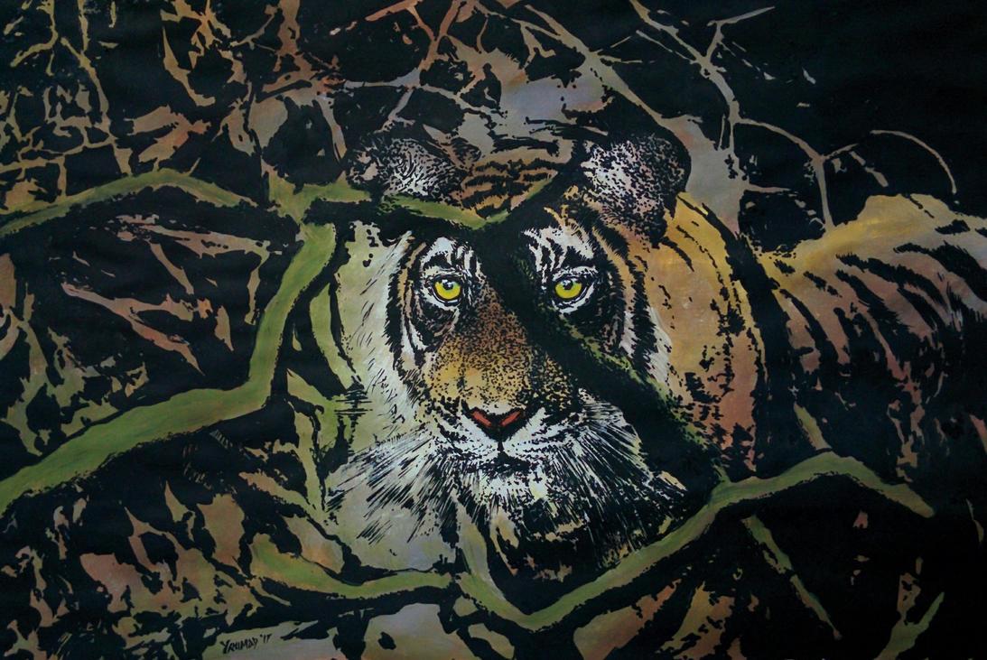 Tiger in the Bush by yrumad