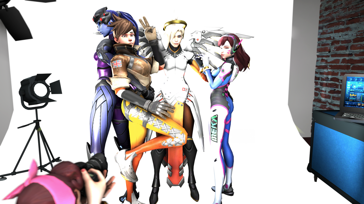 The Overwatch girls at the photoshoot by ReiPegaPonyn