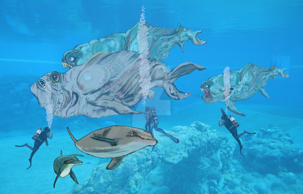 Swimming with the fishes by stephenpryor on deviantart for Swimming with the fishes