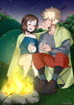 [BNHA YCH] Sitting by the campfire [4]