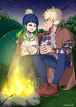 [BNHA YCH] Sitting by the campfire [6]