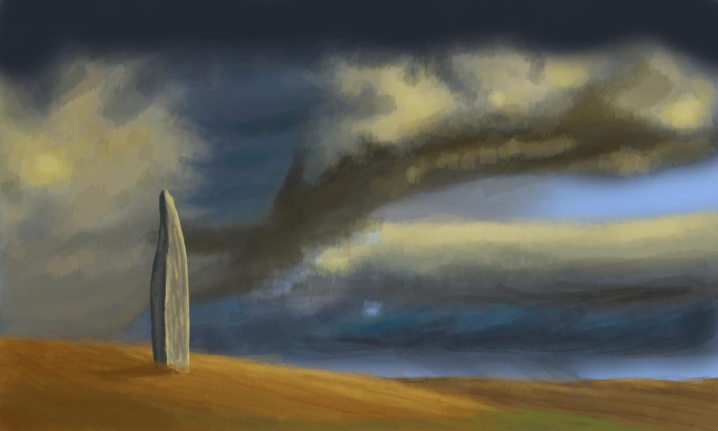 Storm and dolmen by rufious