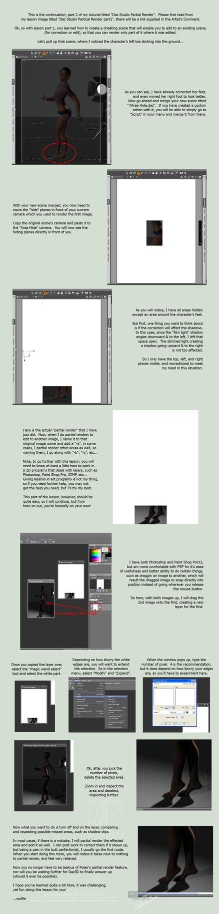 Daz Studio Partial Render Lesson Part2 by jamminwolfie