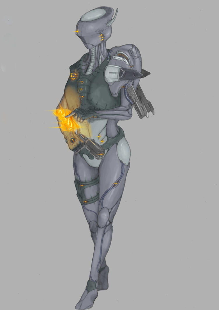 Warframe Fan Concept - Enigma... now with colour! by Gray-philosophy