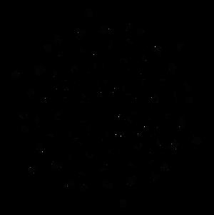 Winter glyph-snow-flakes from dscript text art