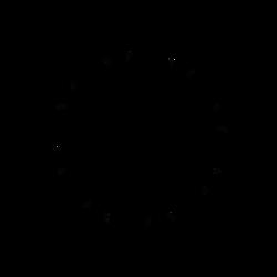 Snow Flake Stars from Reflected Dscript Text by dscript