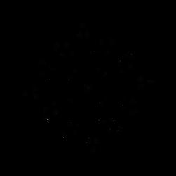 Hollow Snowflake from Reflected Glyph Dscript art by dscript