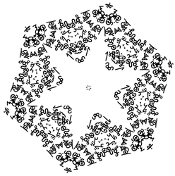Hollow Star Snowflake - Dscript reflected symbols by dscript