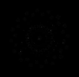 Spiky Wheel Tribal style reflected text - Dscript by dscript