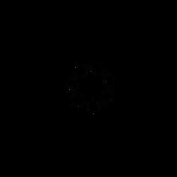 Seven Pointed Star Glyph art - Dscript 2d Writing by dscript