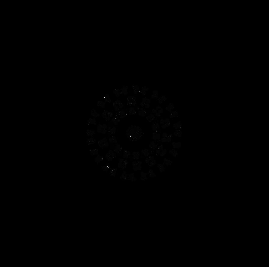 Wheel Of Dscript Text Alphabet Symbols Reflected By Dscript On