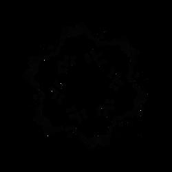 Glyph Disc - Dscript Alphabet Glyphs Reflections