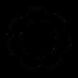 Dscript Glyphs and Symbols Reflection Art