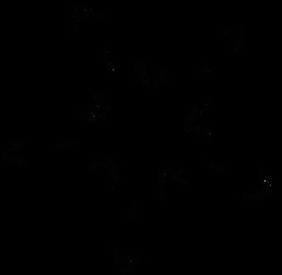 Starfish line design - dscript vectors -  free art