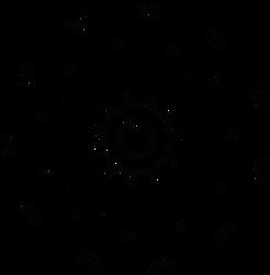Glyph Wheel - disc of reflection text - free art by dscript