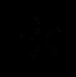 Empty Star Snow Flake - Free Vector Stock Art