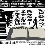 Unfold Your Own Myth - Dscript Constructed Script by dscript