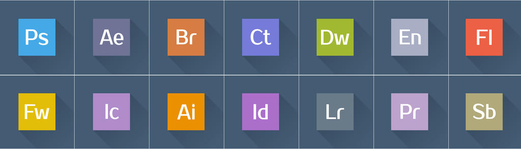 adobe creative suite flat icons by muamerart on deviantart