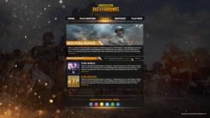 PUBG Website theme 1 hour challenge
