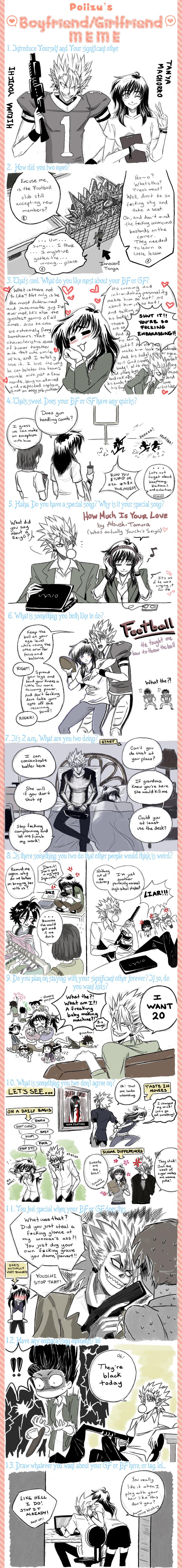 Hiruma Boyfriend Meme by Chibimanager