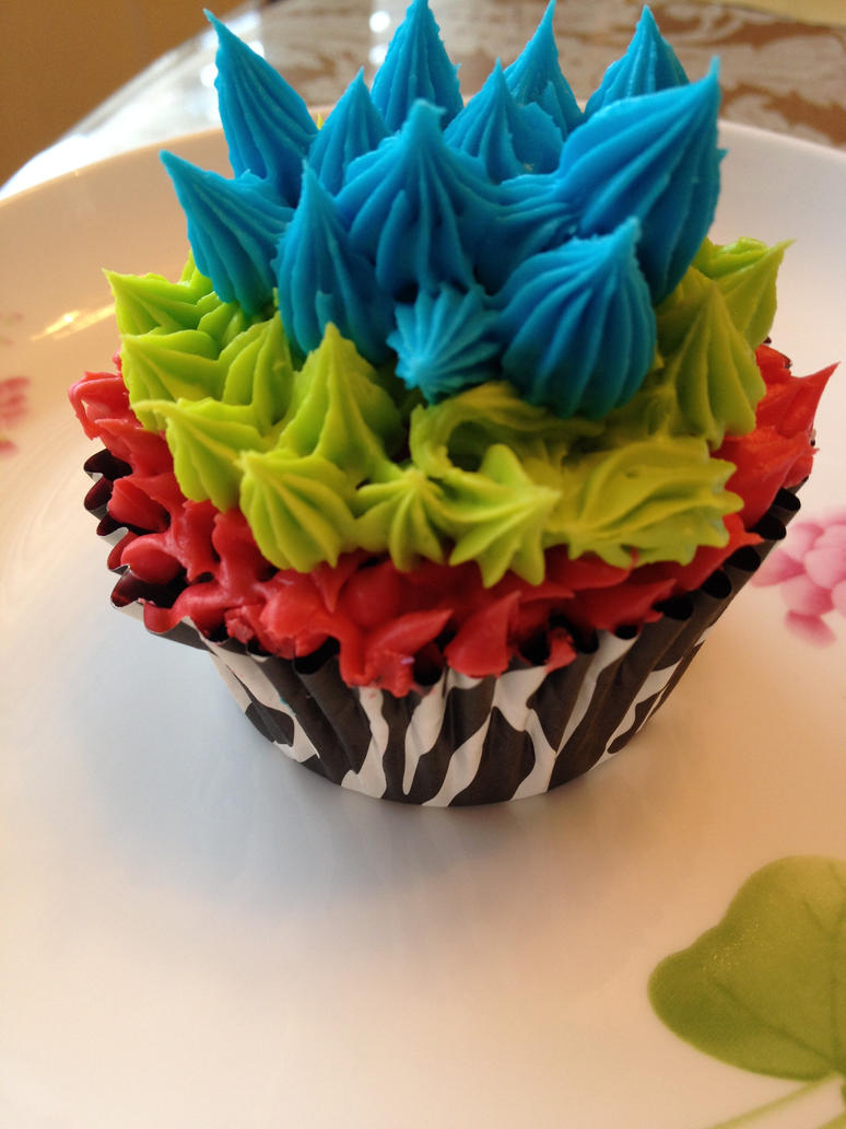 Brilliant Colors of a Cupcake by Shamrock-Girl