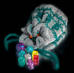 Cthulhu dice bag by foxymitts
