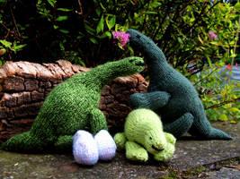Prehistoric trio by foxymitts