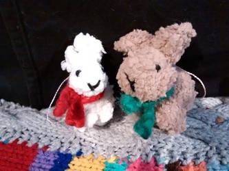 Fuzzy Bunnies by foxymitts