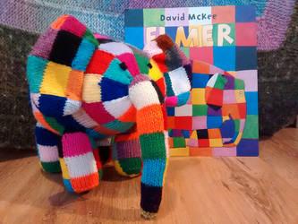 Elmer the elephant by foxymitts