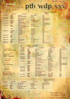 PTB WDP XXV Schedule by suicidekills