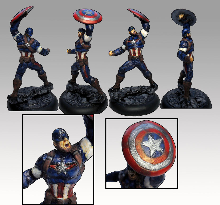 Knight Models Captain America, AoU conversion by Innerwolf88