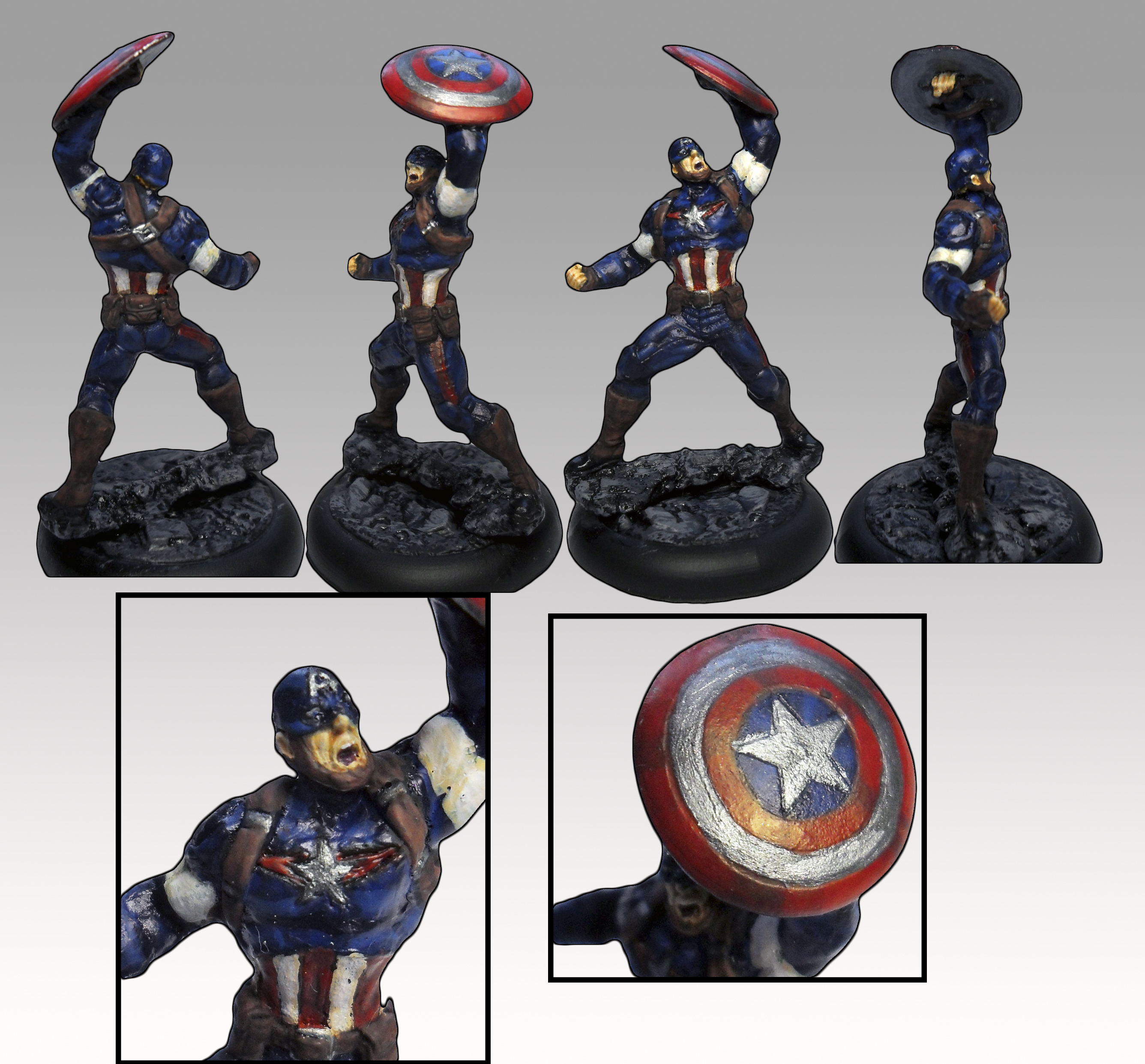 Knight Models Captain America, AoU conversion by ... X 23 Marvel Avengers Alliance