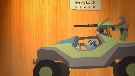 Wallpaper 'Cut-Out' Halo Reach by PhotoshopMiraj
