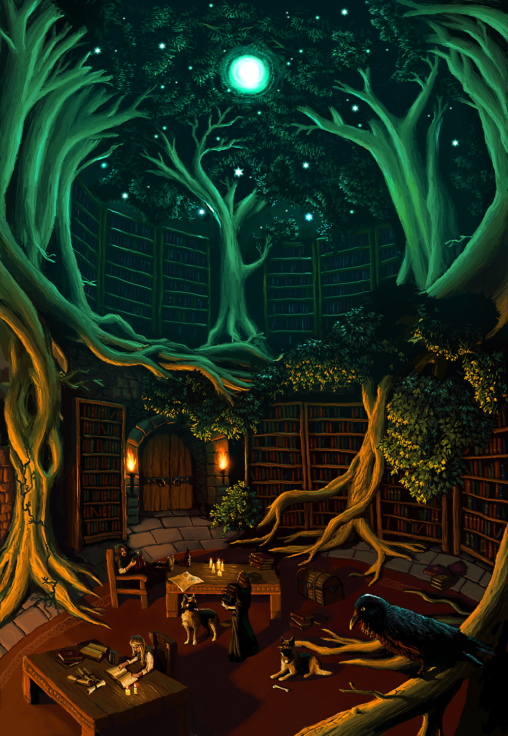 Library by Phasmageist