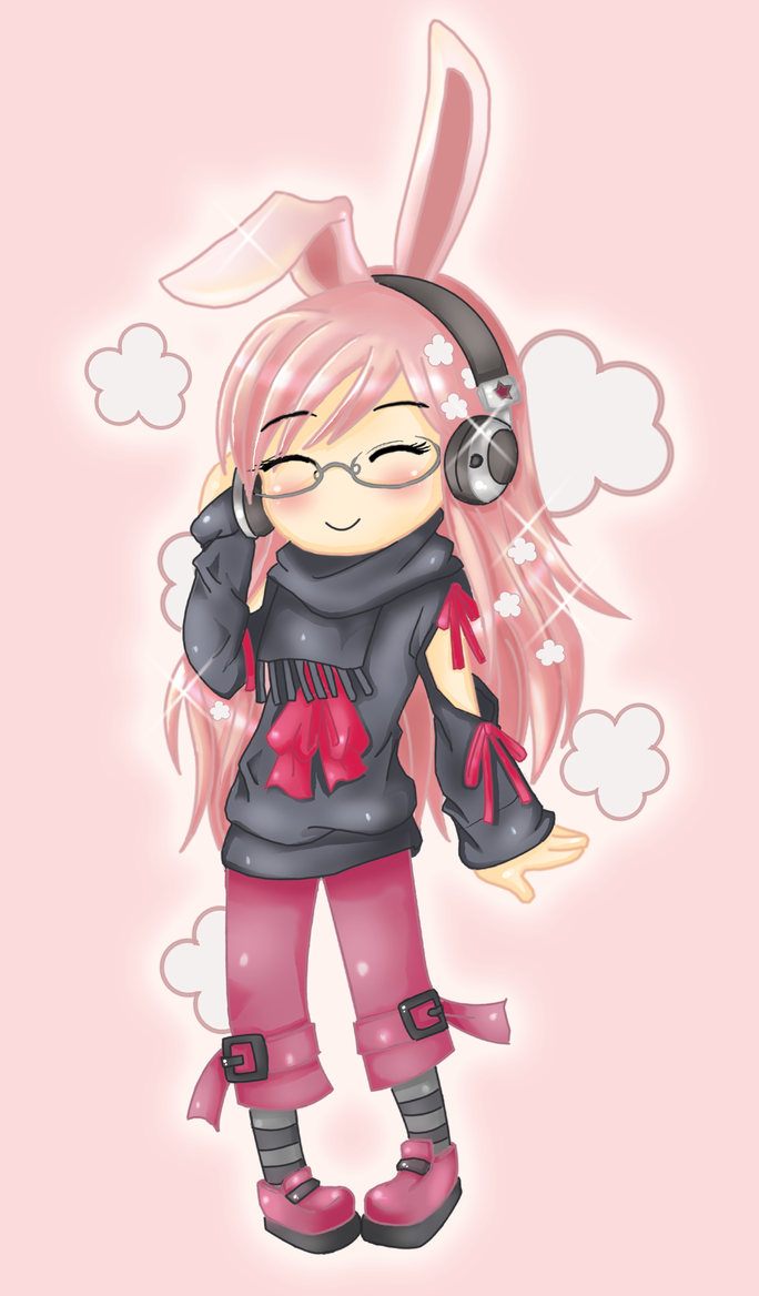 Headphone Bunny XD by narkAlmasy