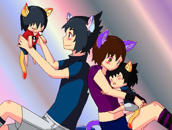 Our Neko Family by Scoric on DeviantArt