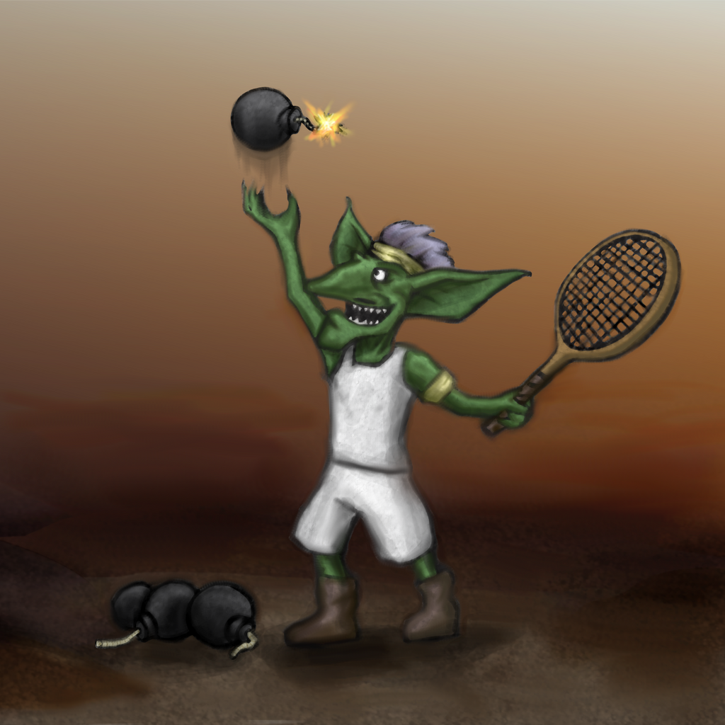 Gnome Bomb Tennis Player by gusustavo
