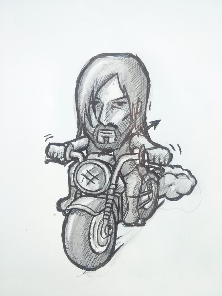 Boceto Daril - Daril Sketch by gusustavo