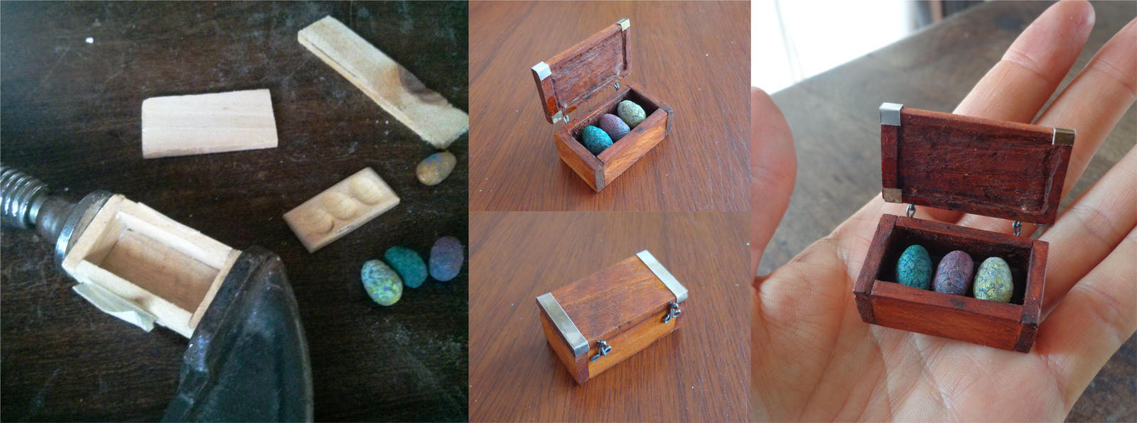 Mini Chest dragon eggs - GOT by gusustavo