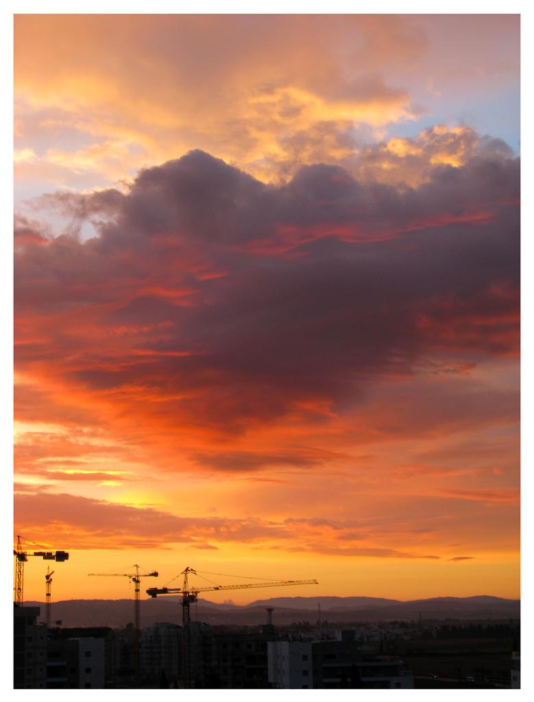 Flaming skies by maska13