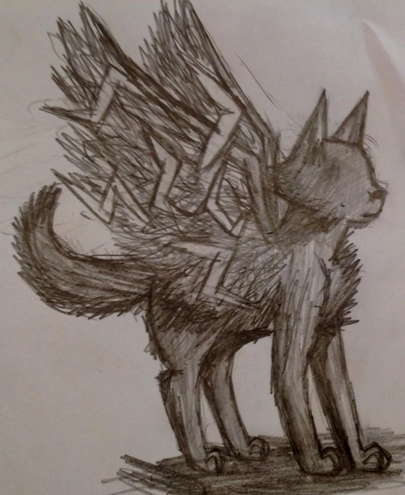 Drop it! {Marieke's art-dump-topic} - Pagina 2 A_winged_dog_without_eyes_by_akumakitties-d8751oo