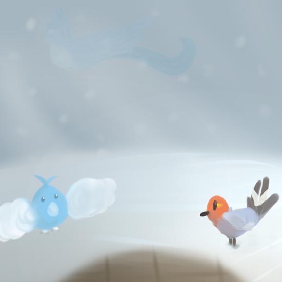 Drop it! {Marieke's art-dump-topic} - Pagina 2 Snowy_day_by_akumakitties-d8belzt