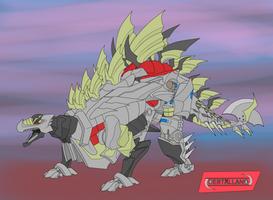 Snarl Stegosaurus mode by destallano4