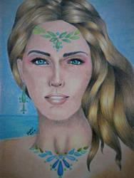 Ea, goddess by YahannRomero